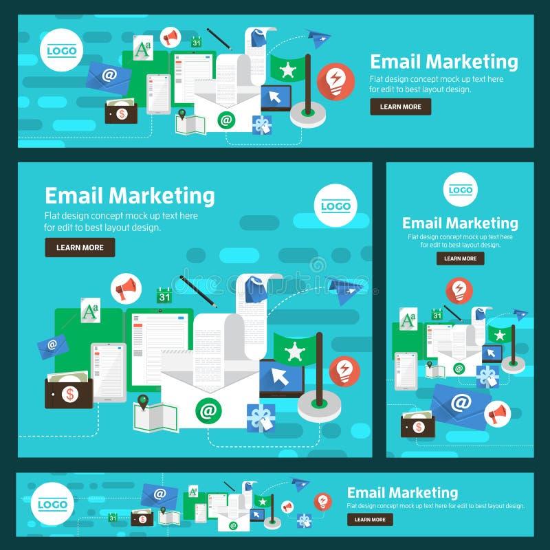 Flat design concept digital marketing. Vector illustrate. royalty free illustration