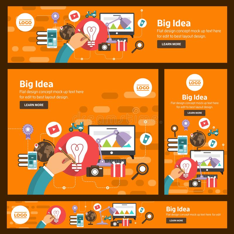 Flat design concept digital marketing. Vector illustrate. stock illustration