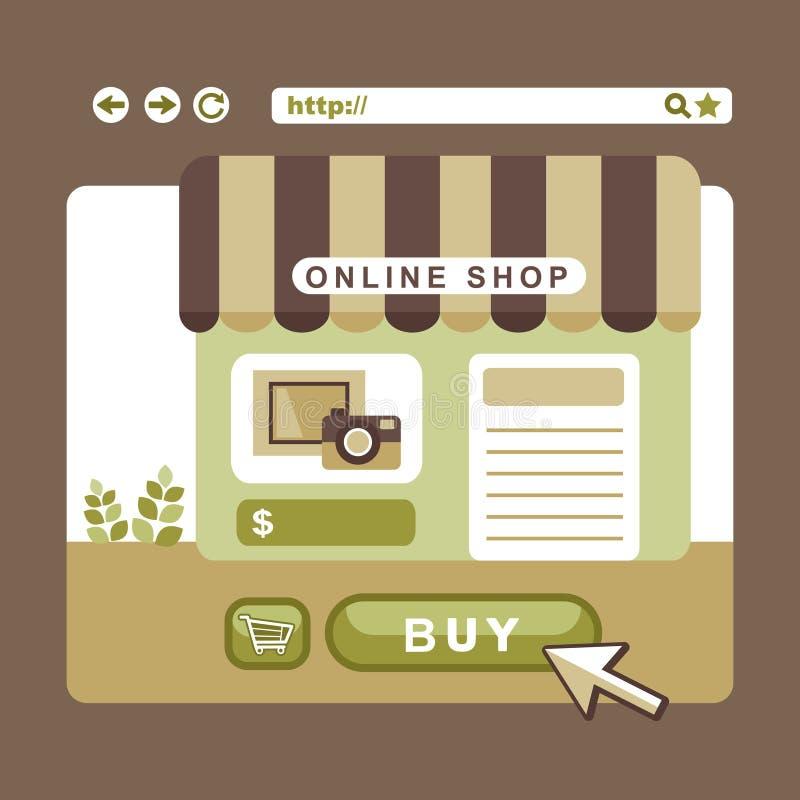 Flat design concept of online shop vector illustration