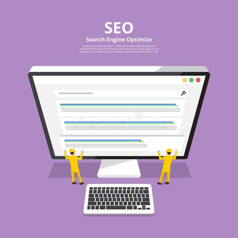 Flat design concept SEO (search engine optimize). Vector illustrate. vector illustration