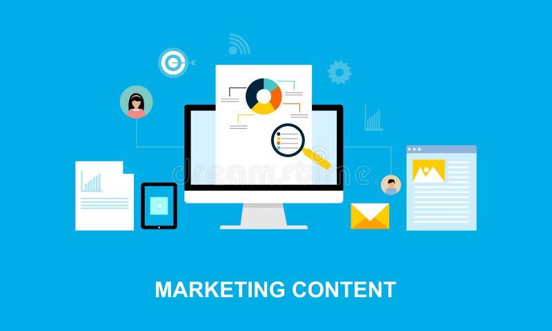 Flat design content marketing system illustration vector illustration
