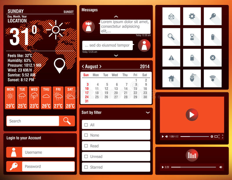 Download Flat Design Elements For Mobile App Stock Photography - Image: 37678062