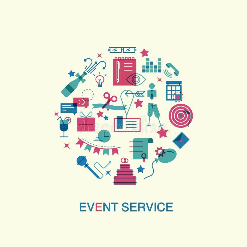 Organization Event Calendar : Flat design event marketing concept stock vector