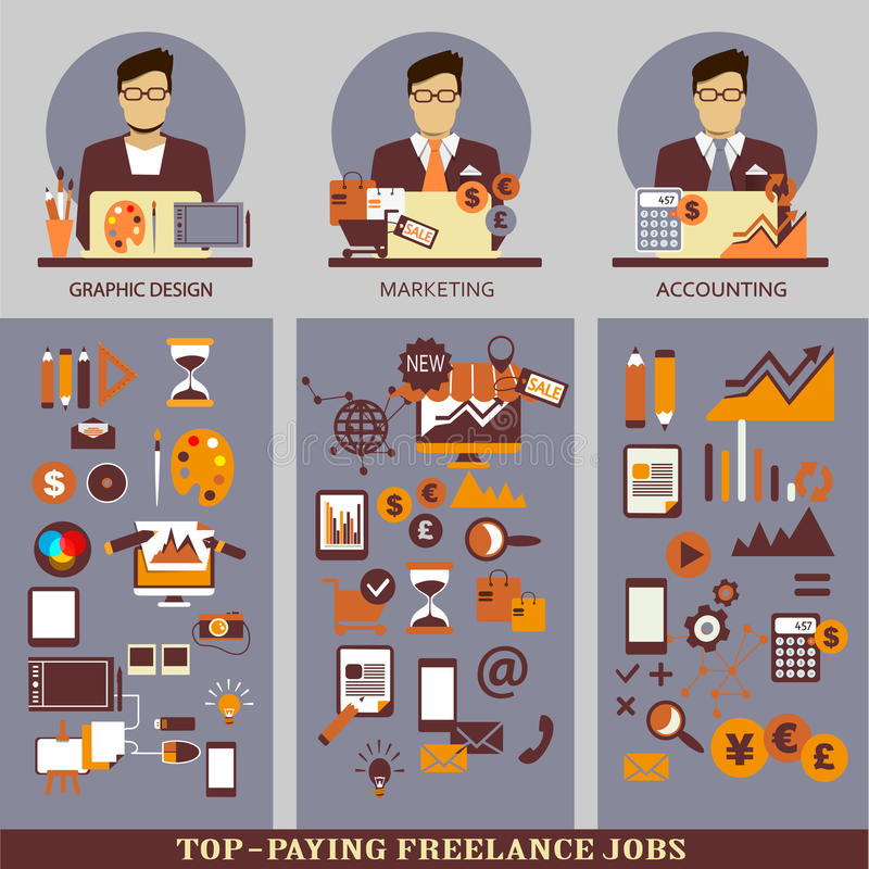 Flat design. Freelance infographic. vector illustration