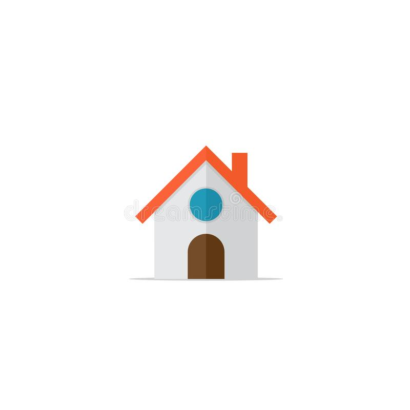 Flat design of the house/home button icon vector illustration