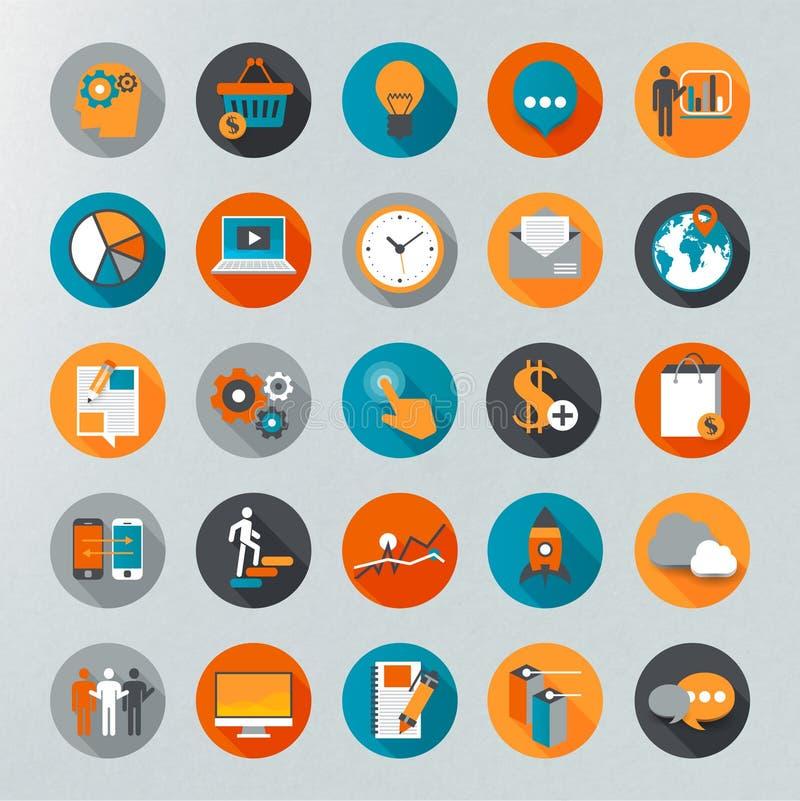Flat design icon set royalty free illustration