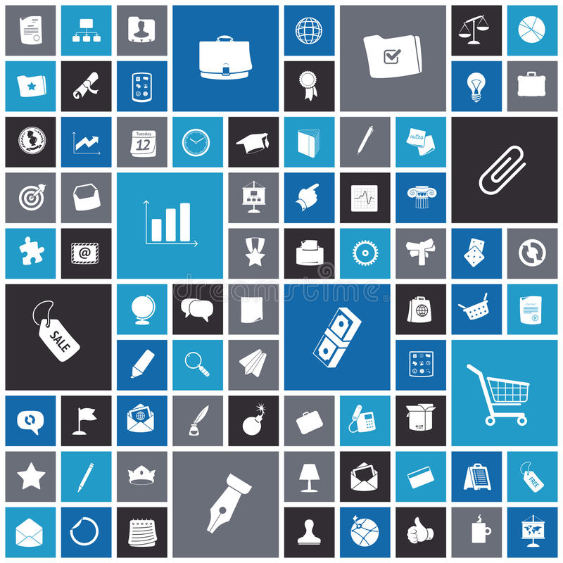 Flat design icons for business and finance. Vector illustration stock illustration