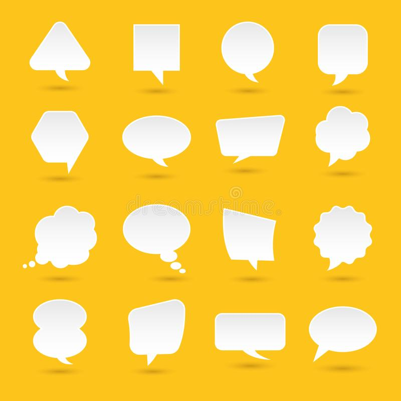 Flat design icons set bubble message for text. Vector illustrations. stock illustration