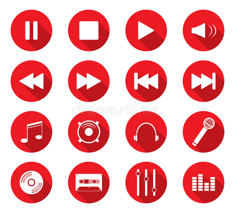 Flat design icons royalty free illustration