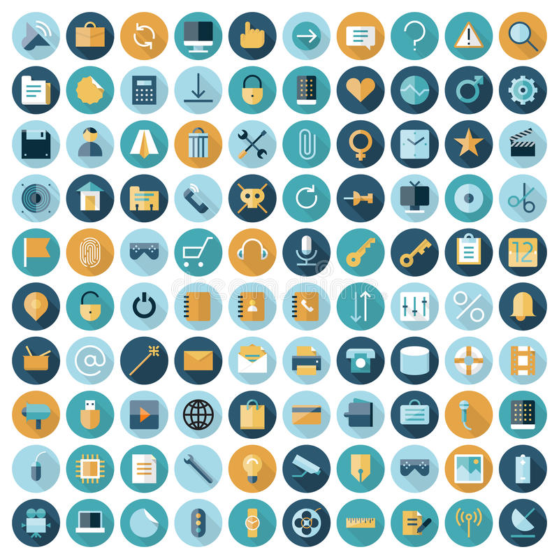 Flat design icons for user interface. Vector eps10 with transparency vector illustration