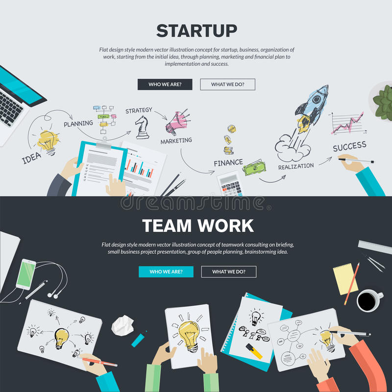 Flat design illustration concepts for business startup and team work. Flat design illustration concepts for business, finance, consulting, management, team work