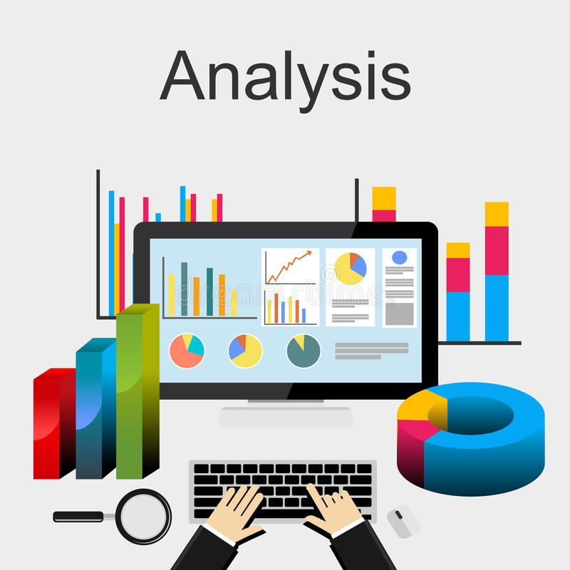 Flat Design Illustration Concepts For Data Analysis Trend Analysis