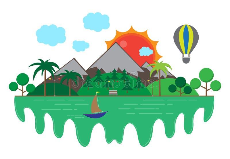 Beautiful scenery royalty free illustration