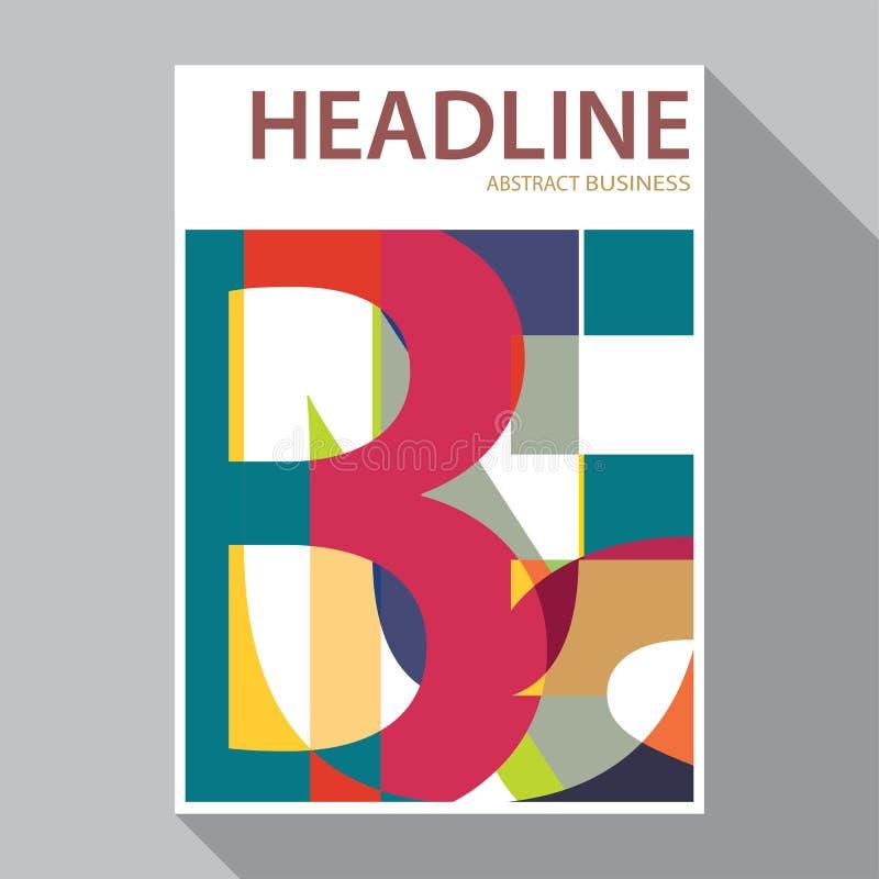 Flat Design Magazine Cover Flyer Brochure Templates Stock Vector
