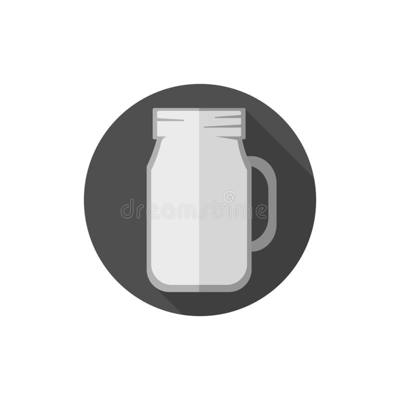 Flat design Mason Jar vector illustration