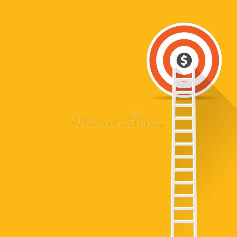 Flat design modern vector illustration infographic concept of digital marketing media concept, Success stock illustration