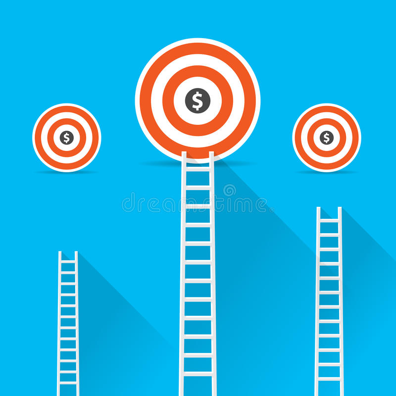Flat design modern vector illustration infographic concept of digital marketing media concept, Success vector illustration