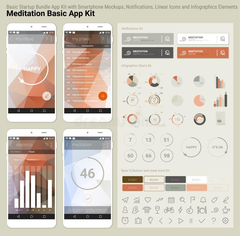 Flat Design Responsive UI Mobile App And Website Template Stock - Basic responsive website template