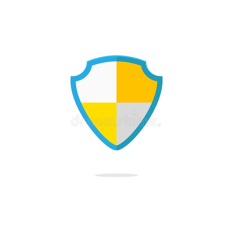 Flat design of the security shield icon royalty free illustration