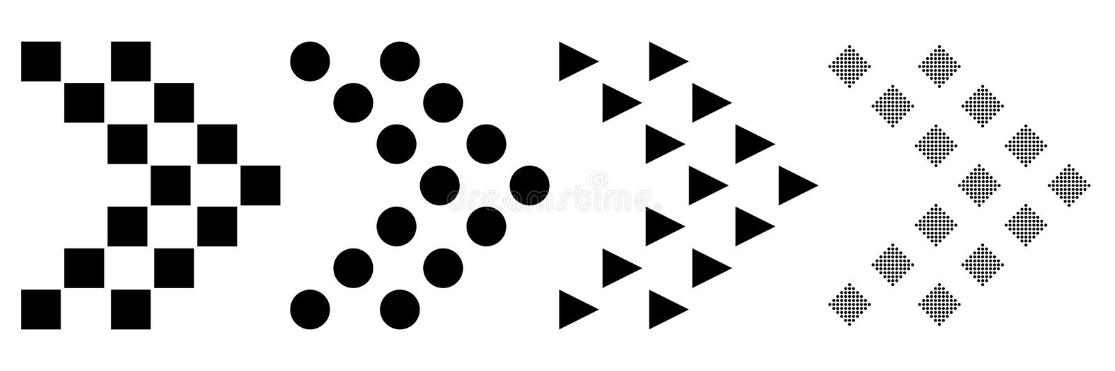 Flat design of a set of icons of arrows on a white background. Vector illustration. Super mega offer for web sites and royalty free illustration