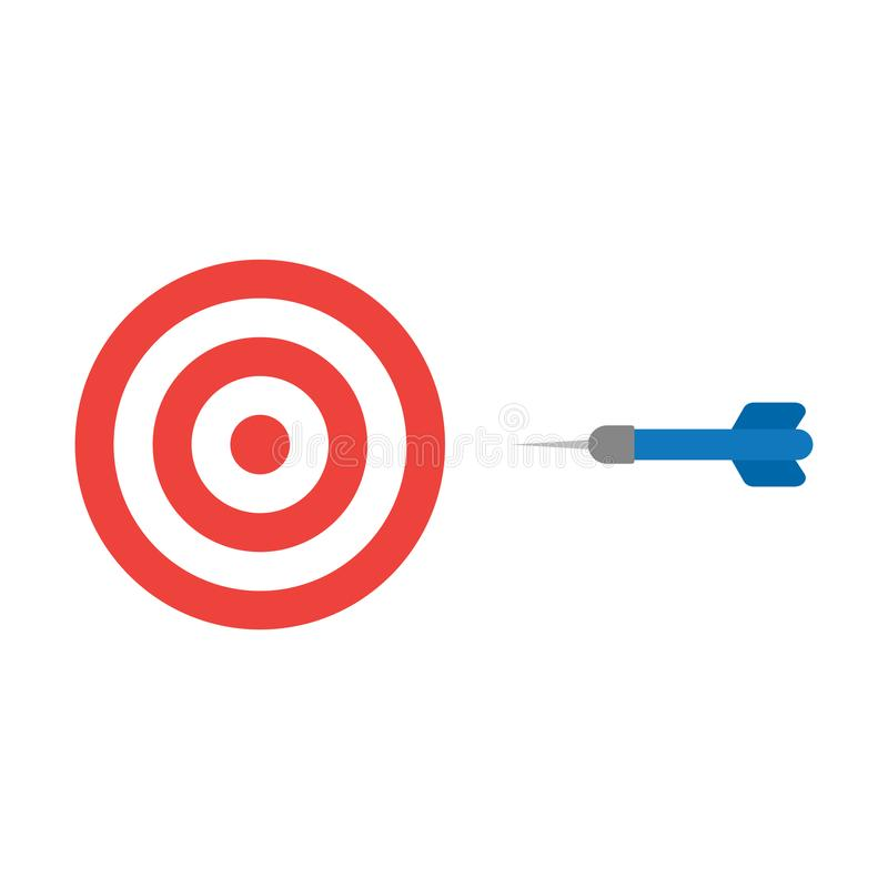 Flat design style vector concept of bullseye with dart icon on w royalty free illustration