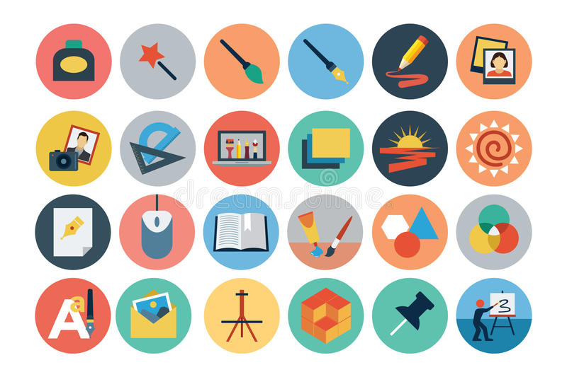 Flat Design Vector Icons 4 stock illustration