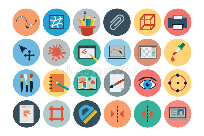 Flat Design Vector Icons 3 vector illustration