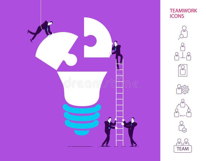 Flat design vector illustration concept of team vector illustration