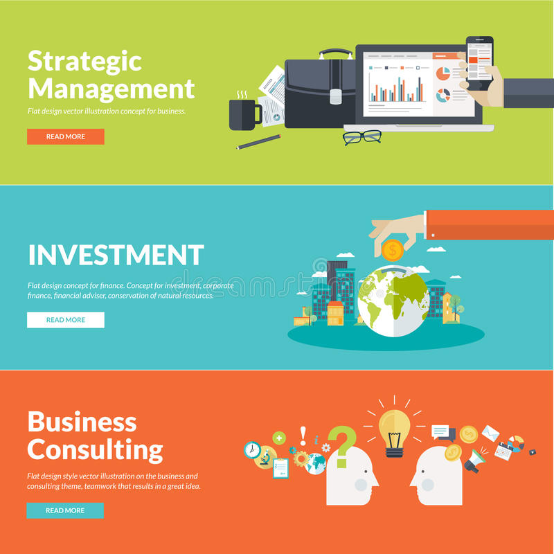 Free Flat Design Vector Illustration Concepts For Business Stock Photo - 46874490