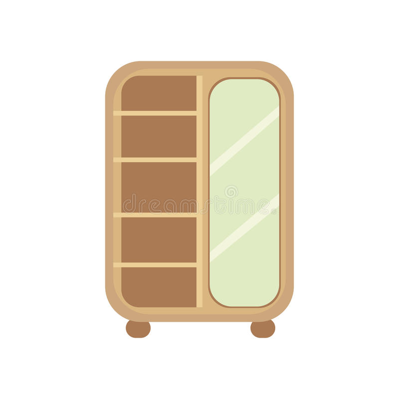 Download Flat Design Vector Illustration Of Cupboard. Stock Vector - Image: 83703308