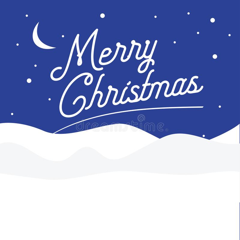 Merry Christmas. Flat design. Vector illustration. stock images