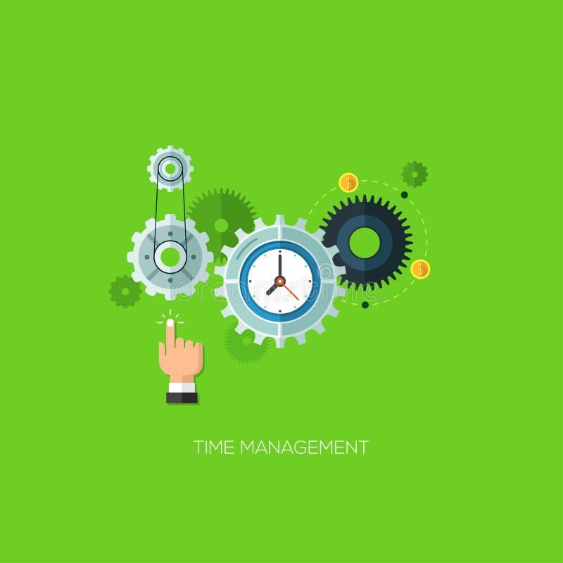 Flat design vector illustration time management stock illustration