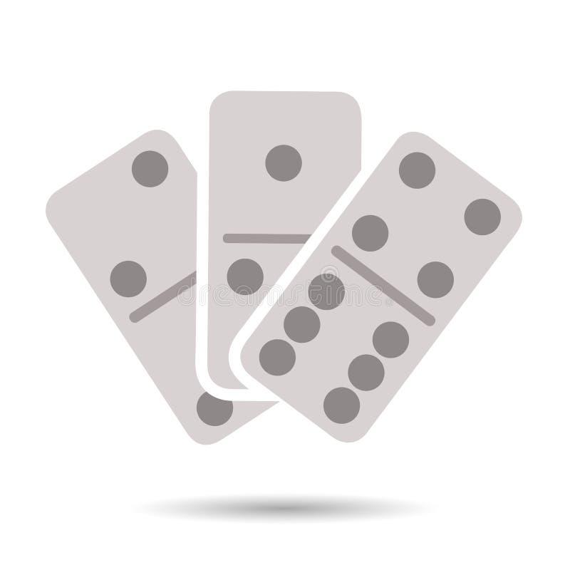 Flat domino icon stock illustration