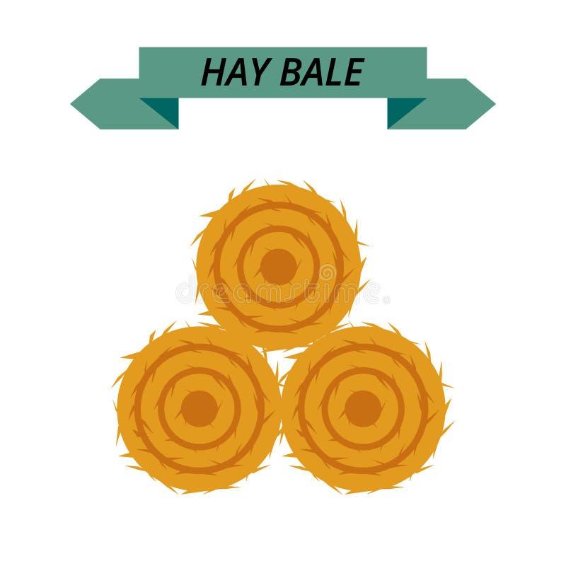 Free Flat Dried Haystack Isolated On White Background. Farming Haymow Bale Hayloft Vector Illustration, Hayrick. Royalty Free Stock Images - 81164199