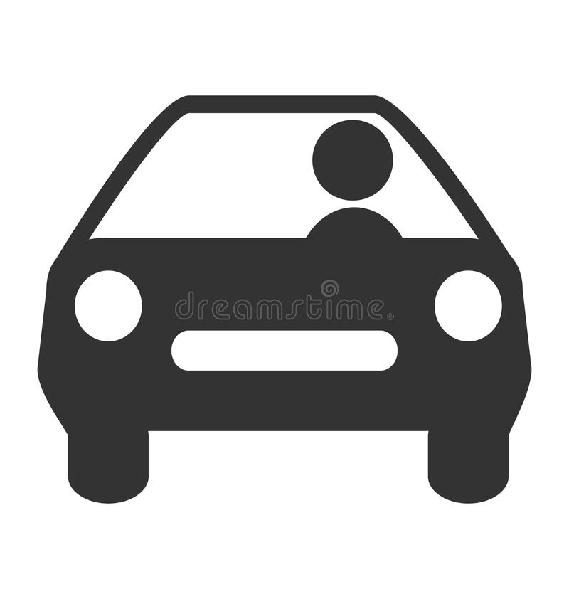 Flat driving icon isolated on white royalty free stock photography
