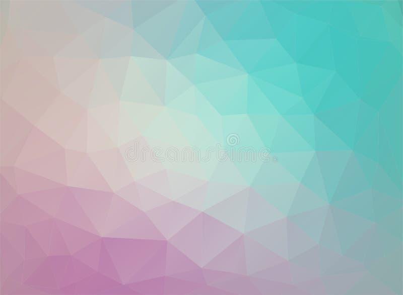 Download Flat Duocolor Geometric Triangle Wallpaper Stock Vector