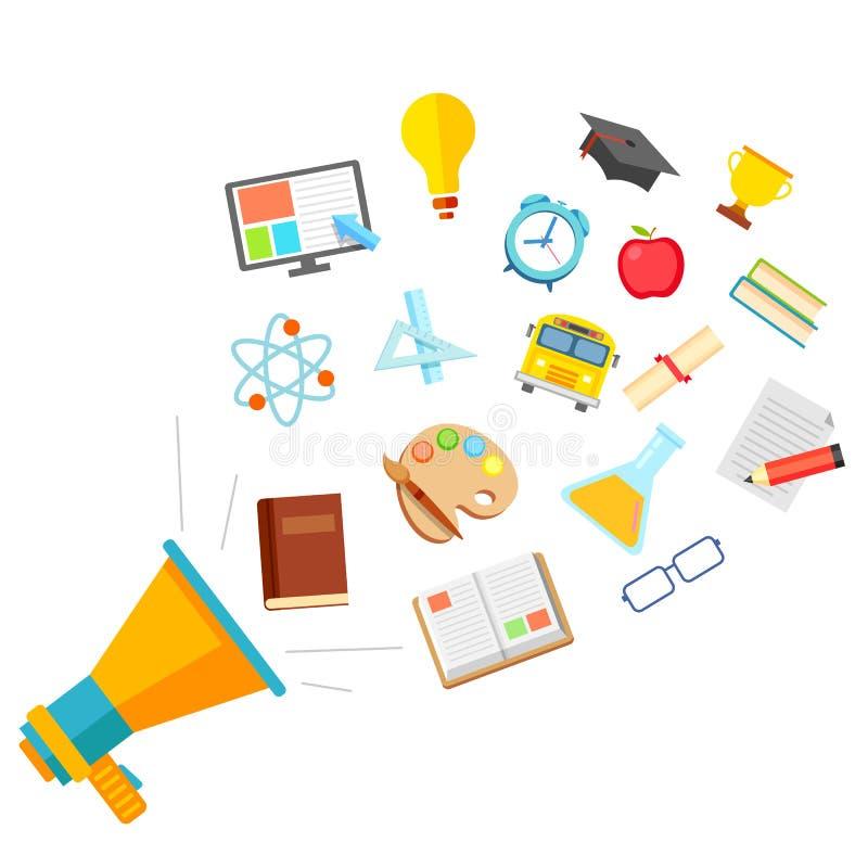 Flat Education Concept royalty free illustration