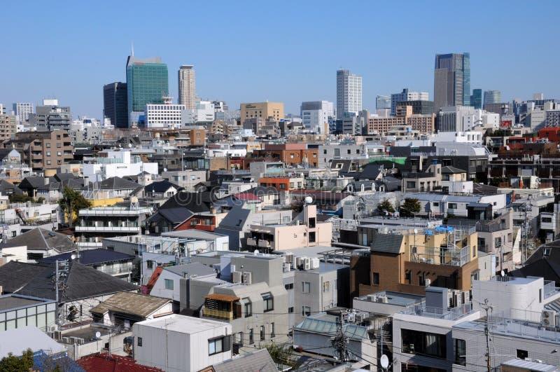 Flat en Bureaugebouwen in Tokyo Japan royalty-vrije stock fotografie