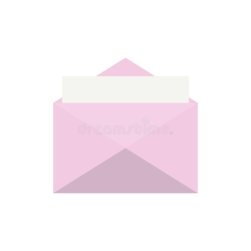 Flat envelope icon Isolated on white background for graphic design, logo, web site, social media, mobile app, illustration.  stock illustration