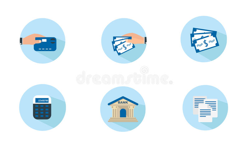 Flat Finance Icons stock photo