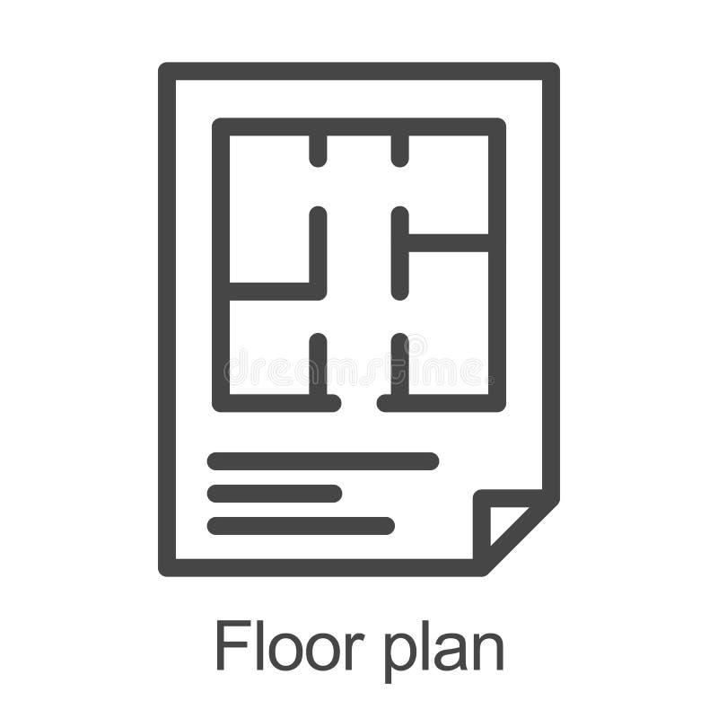 Flat floor plan icon vector illustration