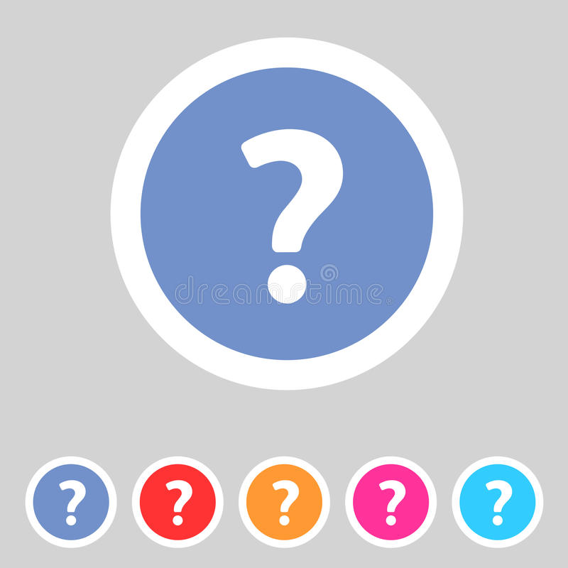 Flat game graphics icon question vector illustration