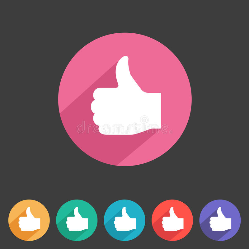 Flat game graphics icon thumbs up vector illustration