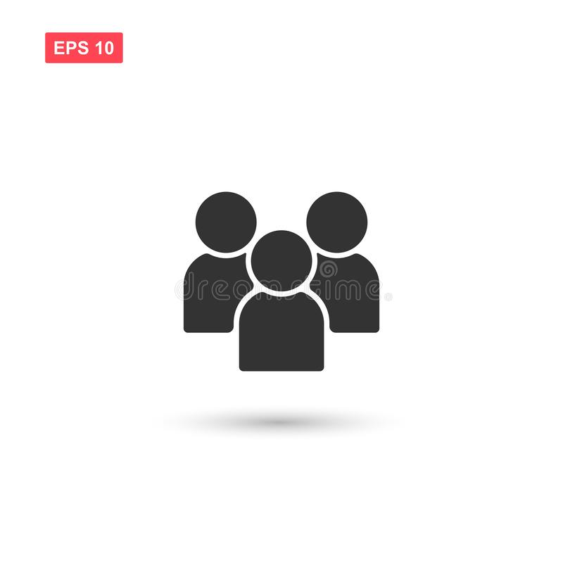 Flat Group of People Icon Vector Symbol royalty free illustration