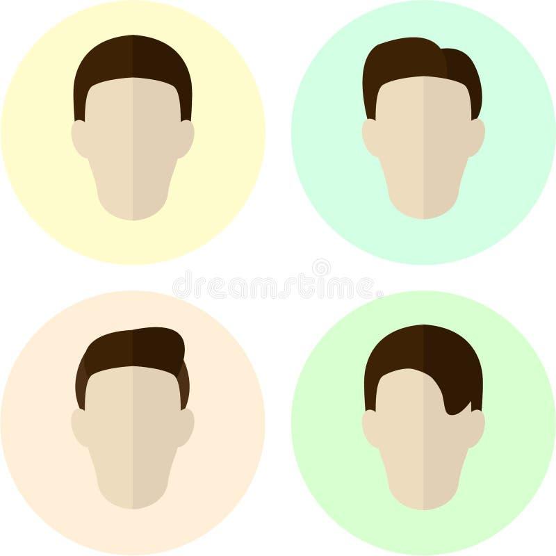 Flat Hairstyle Design stock illustration