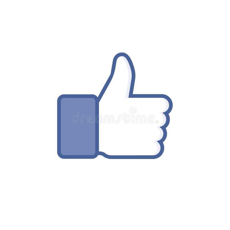 Flat Hand Like. Icon vector illustration. stock illustration