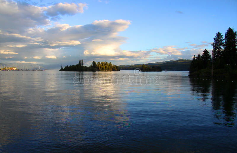 Download Flat head lake stock photo. Image of blue, current, scenic - 25227154