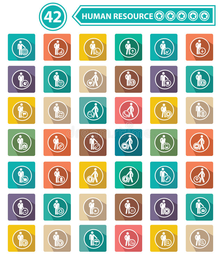 Flat human resource icons,business concept stock illustration