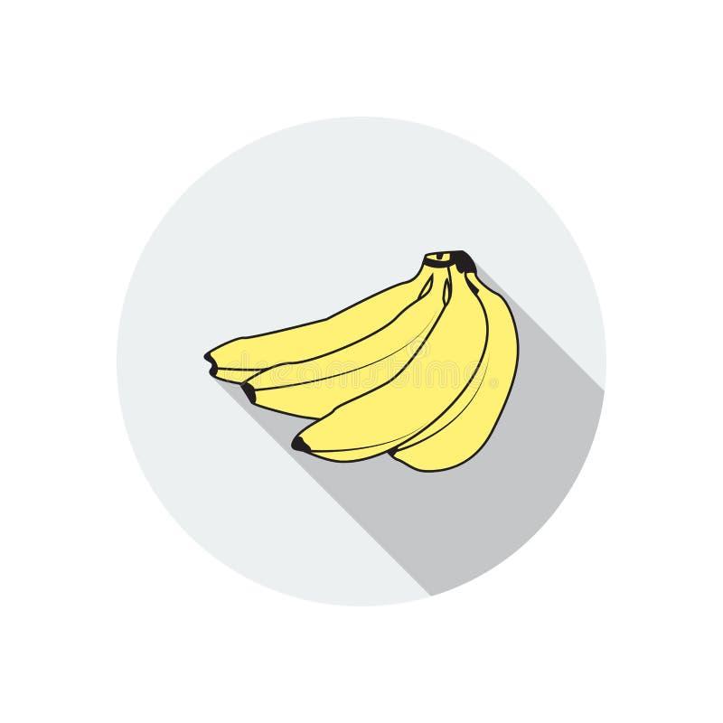 Flat icon for banana,fruit,vector illustrations royalty free illustration