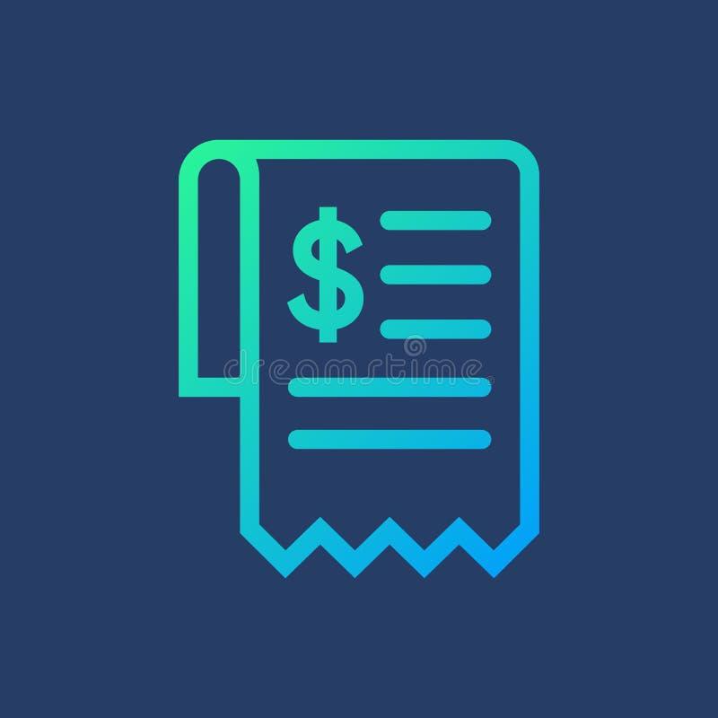 Flat icon bill vector illustration